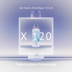 Lot de 120 flacons de gels Hydro-Alcooliques en 125 ml