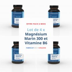 Lot de 4 x Magnésium Marin 300 et Vitamine B6